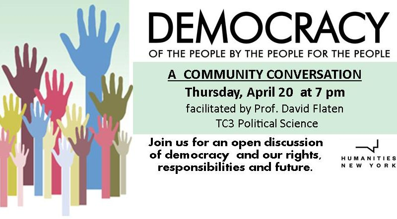 Democracy, A Community Conversation,