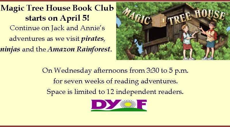 Magic Tree House Book Club starts April 5