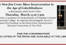 The New Jim Crow with Scott Ochs – Thursday, March 23 at 7 pm