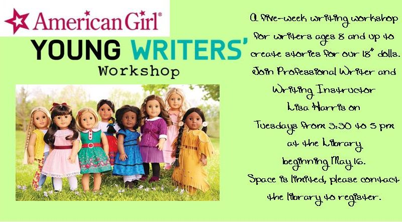 American Girl Young Writers' Workshop – Tuesdays from 3:30 – 5 pm