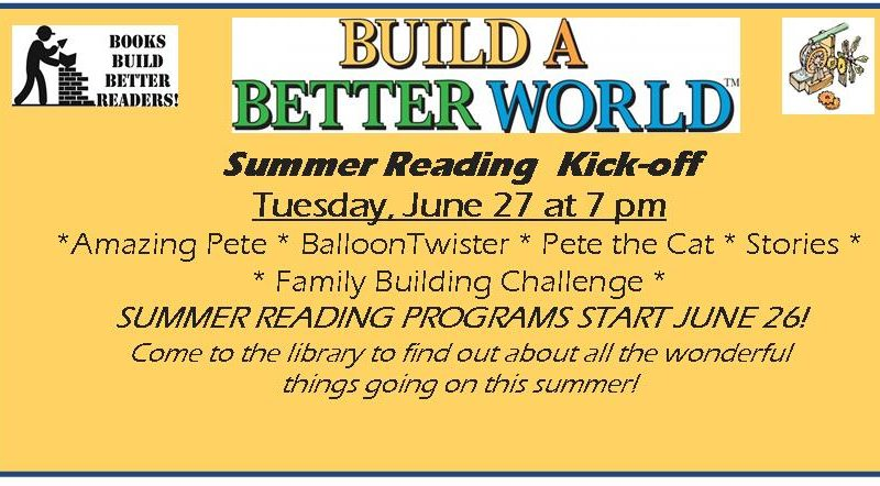 Summer Reading Kick-off
