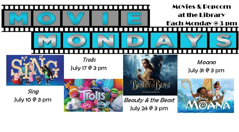 Monday Summer Movies, 3 pm