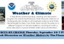 Pushing the Limits-Weather & Climate – Thursday, September 14 at 7 pm