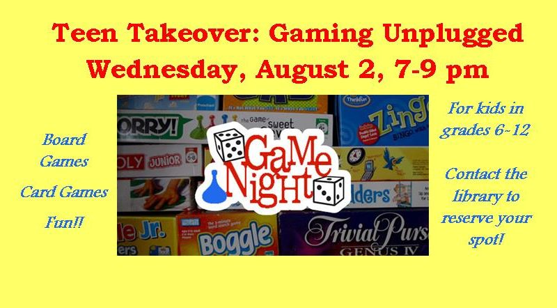 teen takeover, gaming unplugged