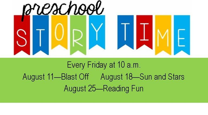 storytime, Friday 10 a.m.