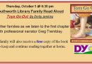 Family Read Aloud – Thursday, October 5 at 6:30 pm