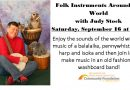 Folk Instruments Around the World – Saturday, September 16 at 1 pm