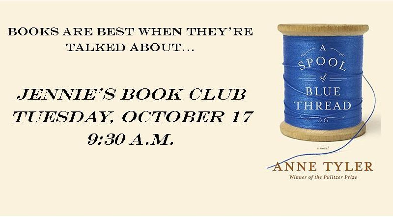 Jenie's Book Club; Spool of Blue Thread