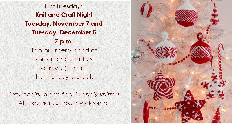Knit Night November and December 2017