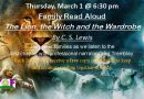Family Read Aloud – Thursday, March 1 at 6:30 pm