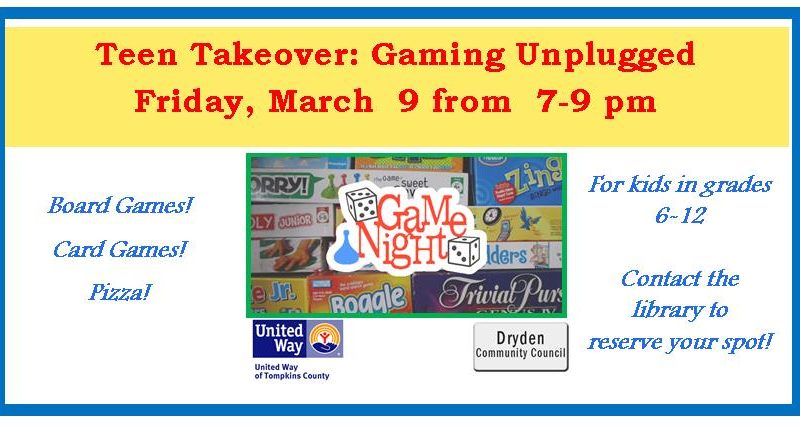 Teen Takeover March, Gaming Unplugged