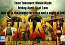 Teen Takeover: Movie Night -Friday, April 13 at 7 pm