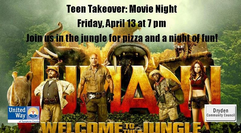 Teen Takeover, Movie Night, Jumanji Welcome to the Jungle