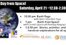 Earth Day from Space – Saturday, April 21 at 12:30 pm