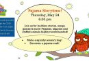 Pajama Storytime – Thursday, May 24 at 6 pm