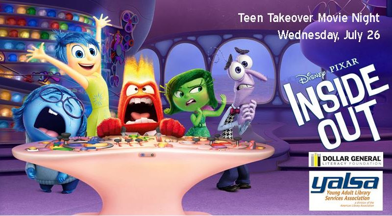Teen Takeover, Movie Night, Inside Out