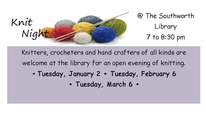 Knit Night Jan - March