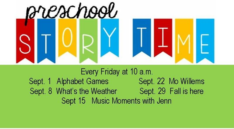 Pre school storytime, September