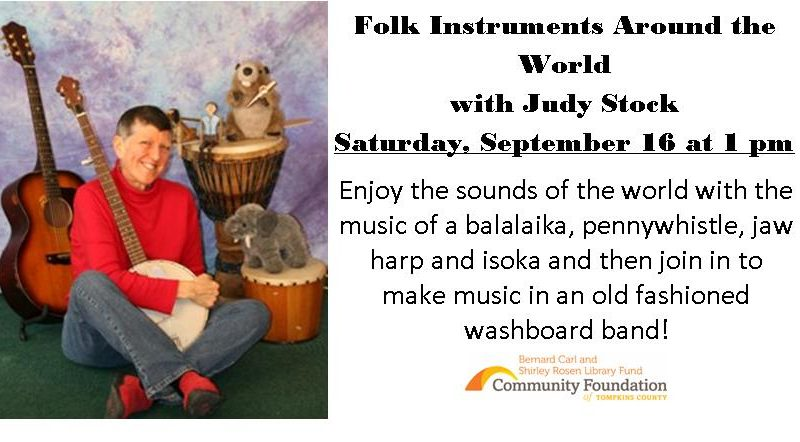 Judy Stock, Family Storytime, Folk Instruments from Around the World