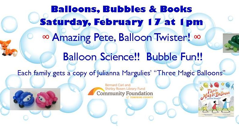 Balloons, Books, & Bubbles
