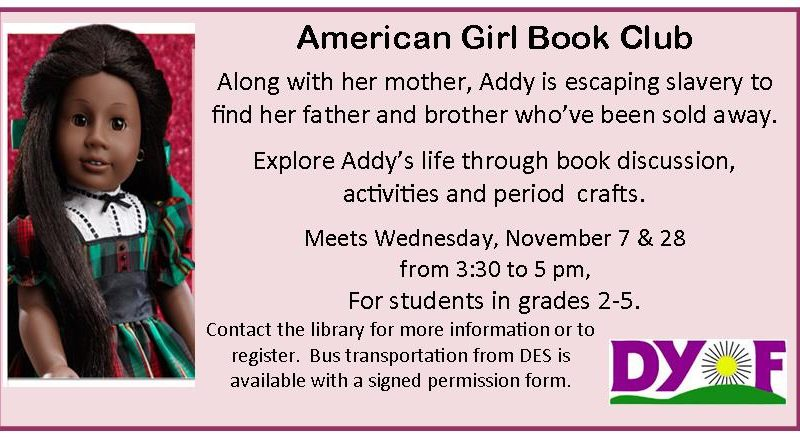 American Girl Book Club, Addy,