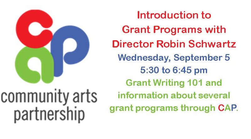 Grant writing session with community arts partnership