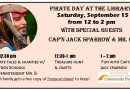 Pirate Day! Saturday, Sept. 15 from noon to 2 pm