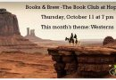 Books and Brew – Thursday, October 11 at 7 pm