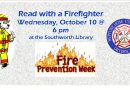 Stories with Firefighters – Wednesday, October 10 at 6 pm