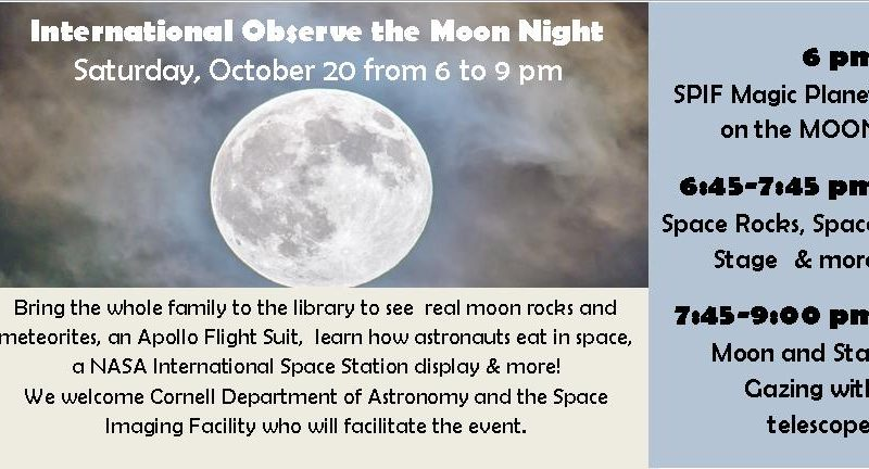 International Observe the Moon Night announcement and schedule