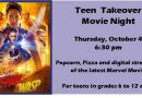 Teen Takeover – Thursday, October 4 at 6:30 pm