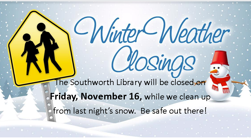 Library Closed November 16, 2018