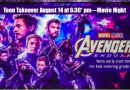 Teen Takeover-Avengers Endgame: August 14 at 6:30* pm