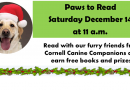 Paws to Read – December 14 at 11am