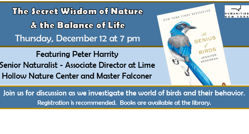 The Genius of Birds with Peter Harrity – December 12th at 7pm