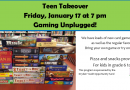 Teen Takeover: Friday, January 17 at 7pm