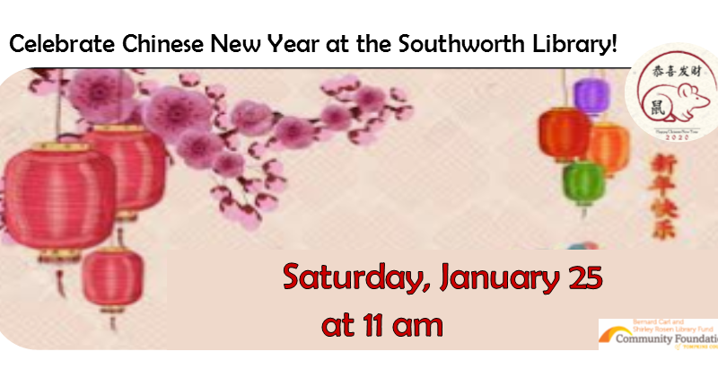 Celebrate Chinese New Year – January 25th at 11am