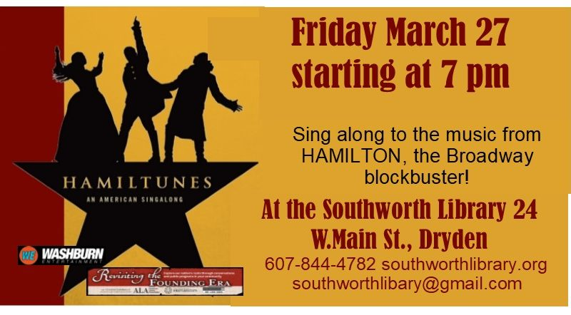 Hamiltunes! March 27th at 7pm
