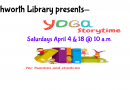 CANCELLED Yoga Storytime – April 4 & 18 at 10am