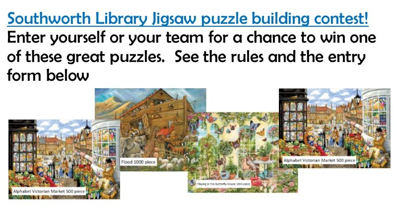 Jigsaw puzzle building competition
