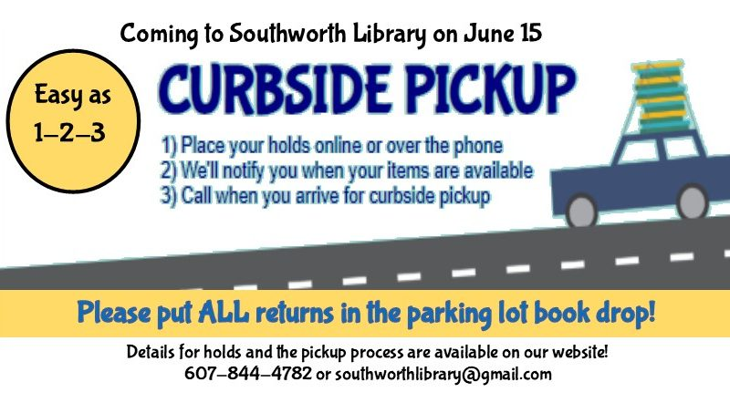 Curbside Pickup to start June 15!