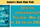 Jennie's Book Club: May 19 at 10 am on ZOOM