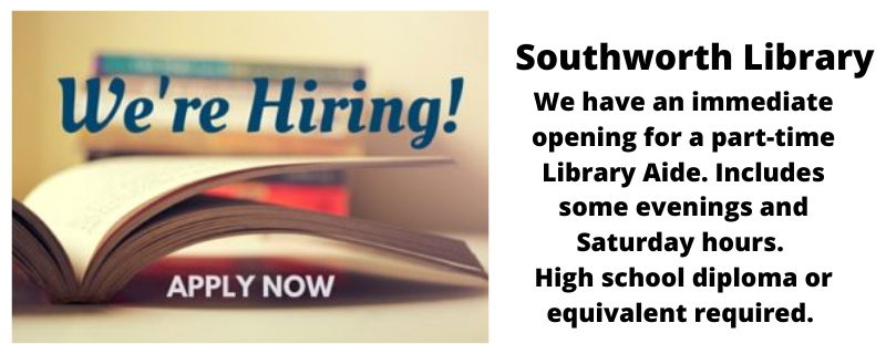 Part-time Library Aide position available