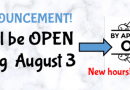 Library reopening on Monday August 3- by appointment
