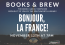 Books and Brew Book Club – November 12th at 7pm