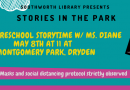 Stories in the Park – Saturday May 8 at 11am