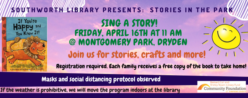 Stories in the Park – Friday April 16 at 11 am