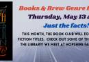 Books and Brew – May 13 at 7 pm