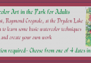 Watercolor Art in the Park July 2021