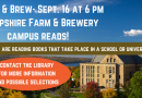 Books & Brew Thursday, Sept 16 at 6 pm- Campus Reads